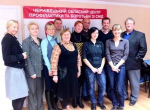 Teilnehmer des Netzwerks zur Aids-Prävention in Czernowitz